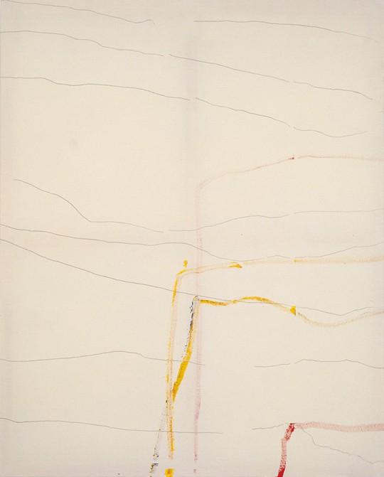 »The Non-Plotted«, 2008, Acryl und Graphit auf Baumwolle, 150 × 120 cm