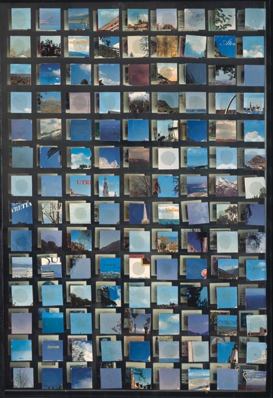 »Himmel«, 2003 Collage, Spiegel hinter Glas, 61 × 43,5 cm