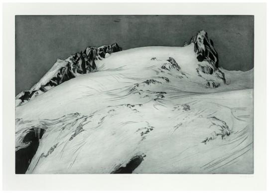 »Hochvernagt«, 2006, Kaltnadel / Aquatinta 60 × 90 cm / 78 × 107 cm