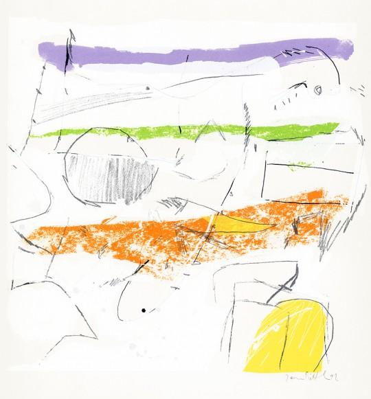 »Verbunden«, 1992, Siebdruck auf Papier, 38 × 38 cm