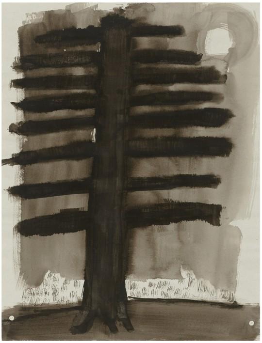 »Le Querce«, 2007, Mischtechnik auf Papier, 63 × 48,5 cm