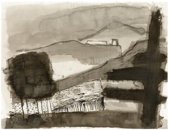 »Le Querce«, 2007, Mischtechnik auf Papier, 48,5 × 63 cm