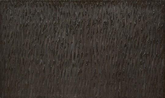 »Spitzenbild (Grasmücke)«, 2011, Öl auf Leinwand, 160 × 270 cm