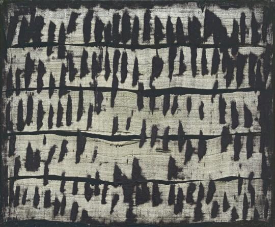 »Hangstreifen«, 2012, Öl auf Leinwand, 100 × 120 cm