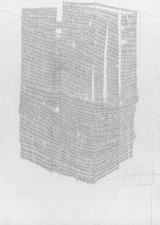 »Ohne Titel 15-2009«, 2009, Bleistift, 29,5 × 21 cm