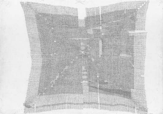 »Ohne Titel 7-2011«, 2011, Bleistift, 21 × 29,5 cm