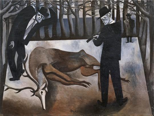 »Die Wilddiebe«, 1956, Öl auf Leinwand, 60 × 80 cm