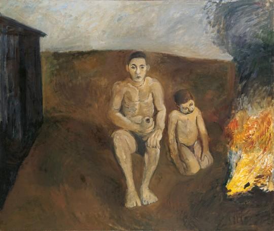 »Das Feuer«, 1966, Öl auf Leinwand, 150 × 180 cm