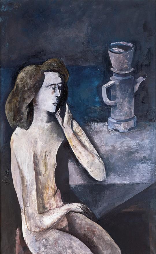 »Akt mit Kaffeekanne«, 1957, Öl auf Leinwand, 130 × 80 cm