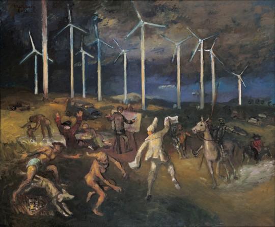 »Meine Universitäten«, 2012, Öl auf Leinwand, 75 × 80 cm