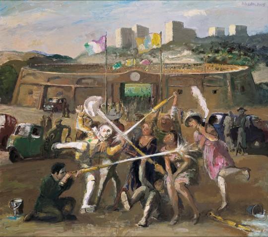 »Nach dem Spiel«, 2005, Öl auf Leinwand, 80 × 90 cm