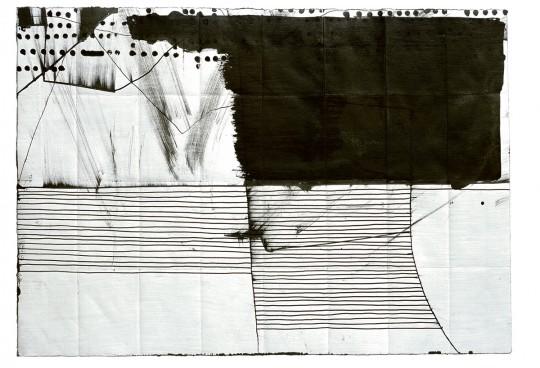 »o. T.«, 2012, Tusche, 27 × 38 cm