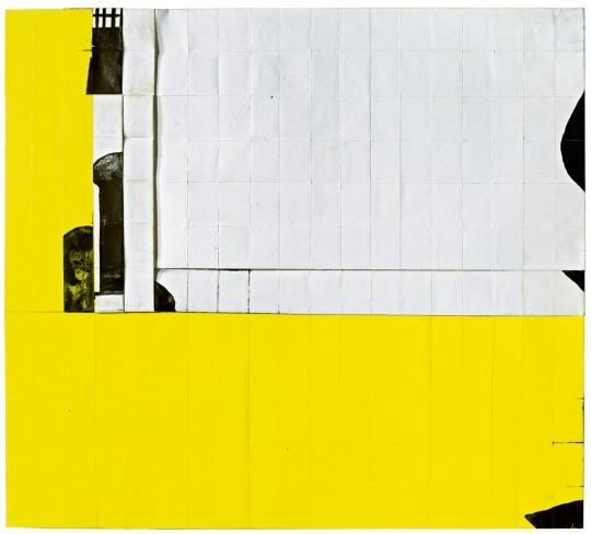»o. T.«, 2011, Faltung, Tusche, Gouache, 37 × 41 cm