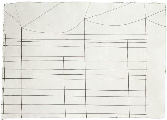 »o. T.«, 2003, Tusche, 30 × 41 cm