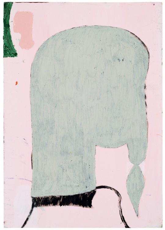 »Frau«, 2013, Öl und Acryl auf Karton, 30 × 21 cm