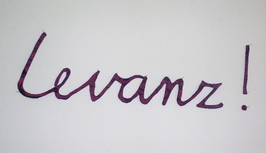 »Levanz!«, 2015, Kunstseide, 20 × 60 cm