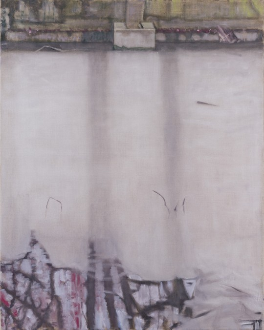 »Überlauf Nr. 24«, 2016, Öl auf Leinwand, 100 × 80 cm