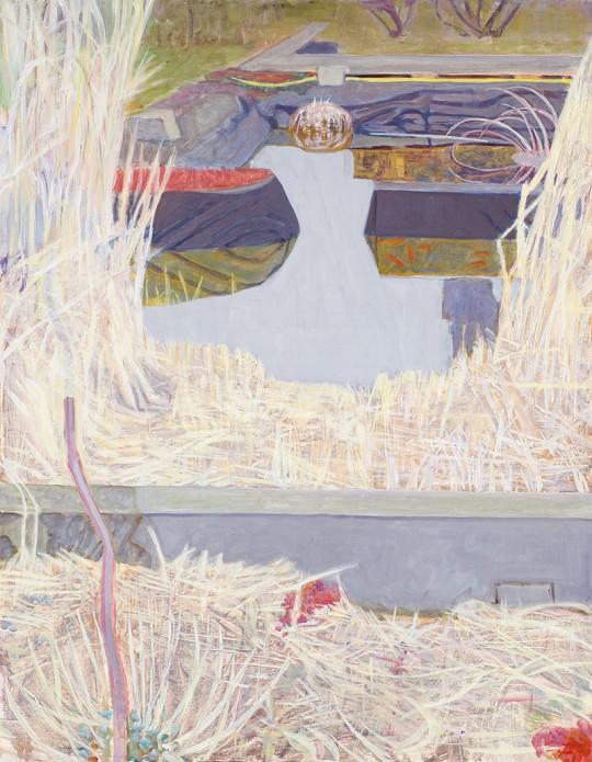 »Stillgewässer 7«, 2012, Öl auf Holz, 90 × 70 cm
