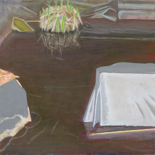 »Stillgewässer 8«, 2013, Öl auf Holz, 40 × 40 cm