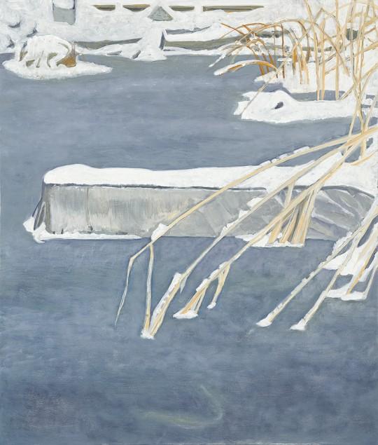 »Stillgewässer 35«, 2014, Öl auf Holz, 80 × 68 cm