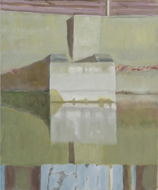 »Überlauf Nr. 1«, 2016, Öl auf Leinwand, 60 × 50 cm