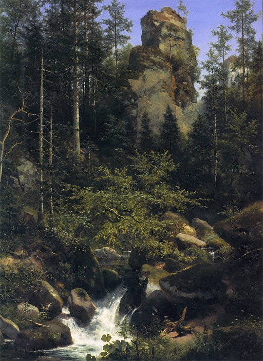 Stürzender Waldbach, 1880, Öl auf Leinwand, 220 × 172 cm