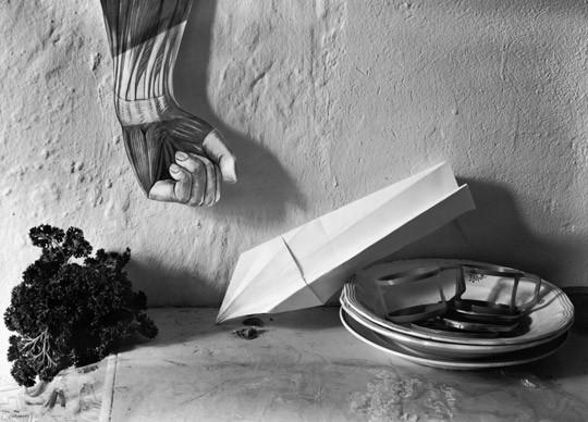 »Teller mit Flugzeug«, 1985