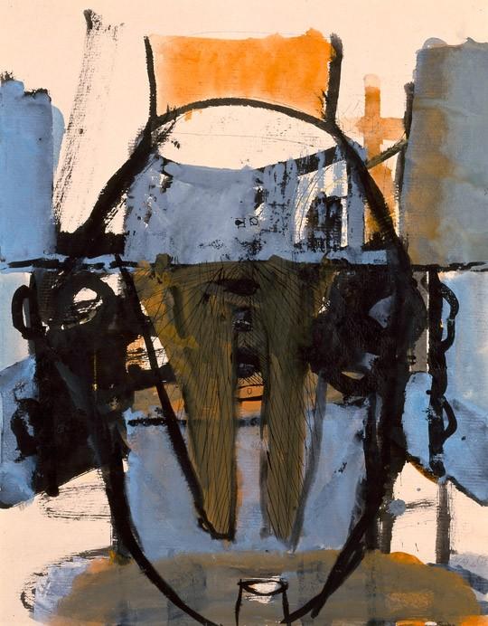 »Alabama, mundgesenkt«, 1994, Mischtechnik, 59,1 × 46,3 cm