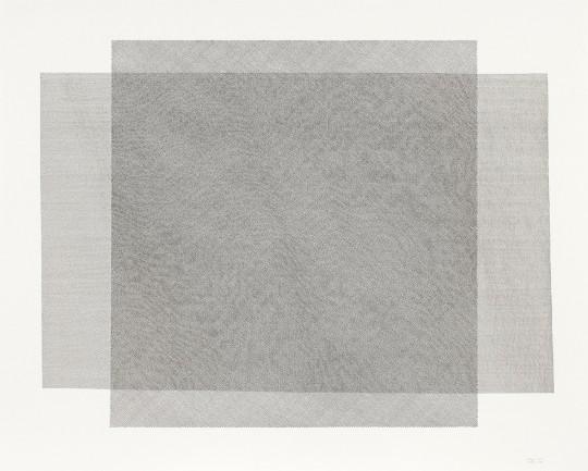 »Moiré I«, 2016, Tuschestift auf Zeichenkarton, 80,5 × 100,5 cm