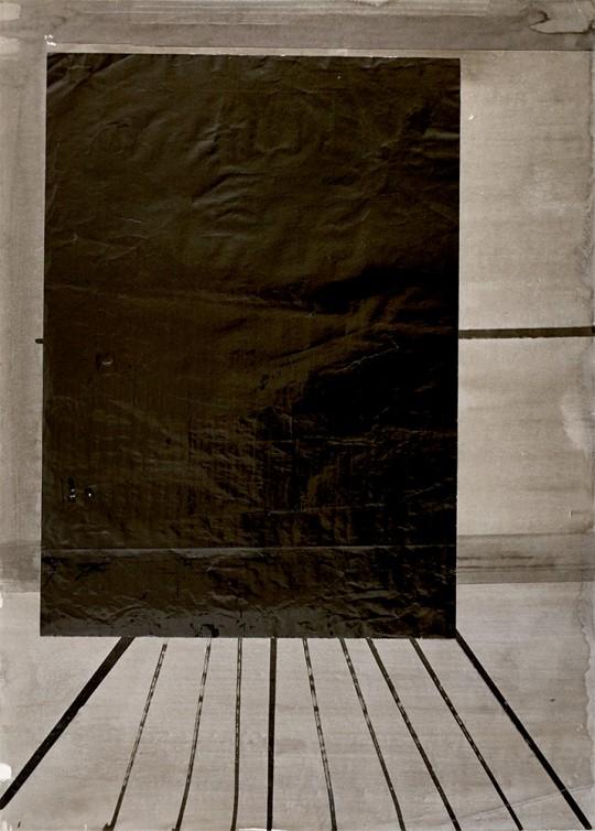 »Frühe Wand«, o.J., Tusche auf Papier, 69 × 50 cm