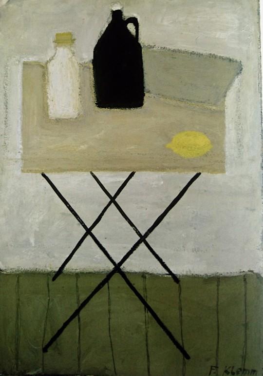 »Schwarze Kanne«, ca. 1952, Eitempera, Caparol auf Papier, 97 × 68 cm