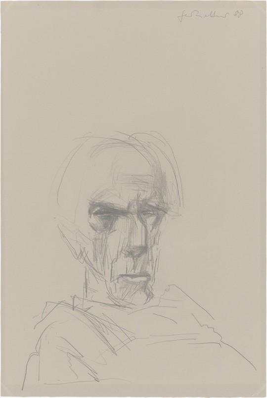 »Porträt Heinrich Drake«, 1988, Grafit, 52 × 35 cm