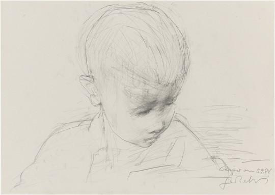 »Caspar«, 5.9.1985, Grafit, 29,7 × 42,2 cm