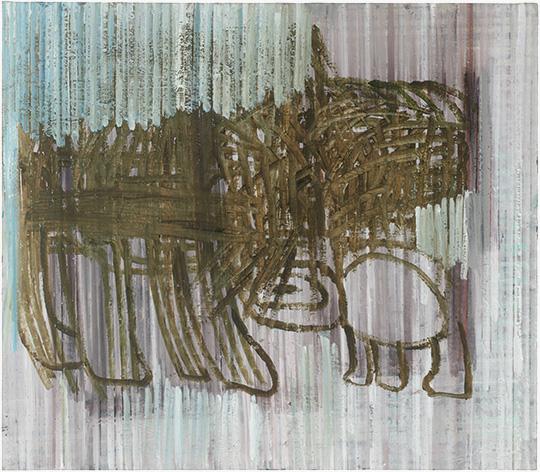 Haustier, 2017, Ölfarbe/Leinwand, 130 × 150 cm